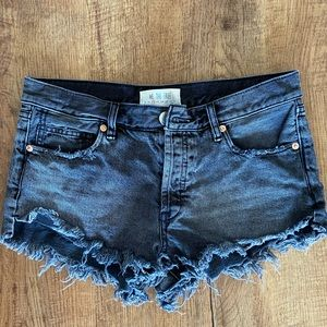We the Free Button Down Mid-Rise Short